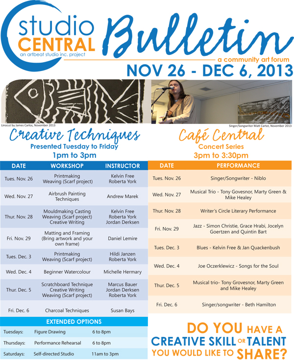 Studio Central Bulletin_Nov26-Dec6_2013