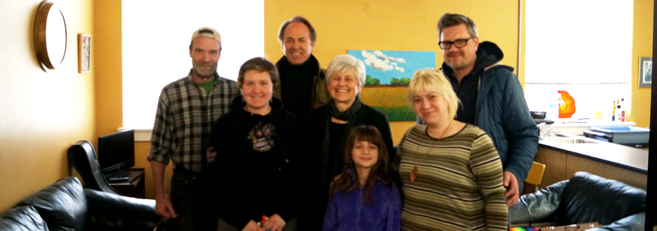 Artbeat Studio staff and resident artists meet with Pat Martin, Member of Parliament