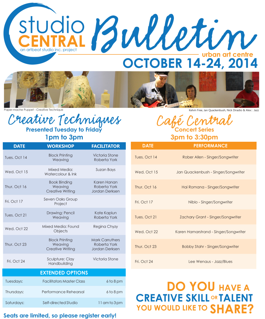 Studio Central Bulletin Oct14-24,2014