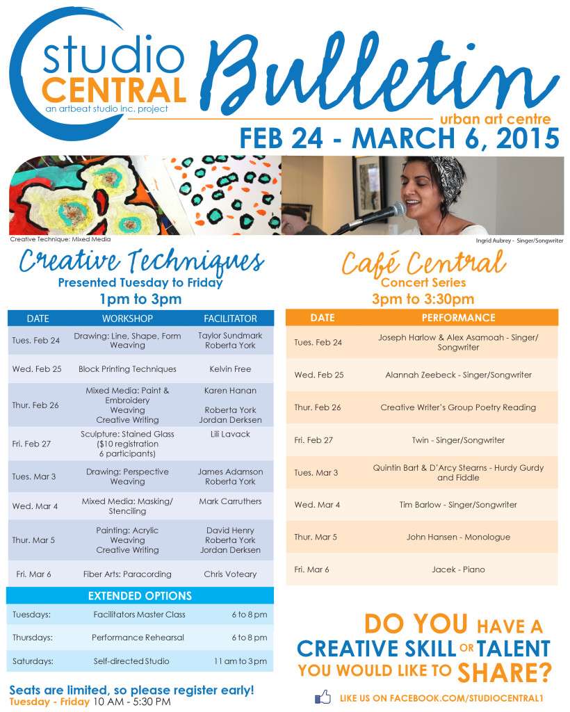 Studio Central Bulletin Feb 24-Mar 6, 2015