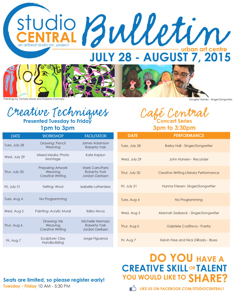 Studio Central Bulletin_July 28 - Aug 7, 2015