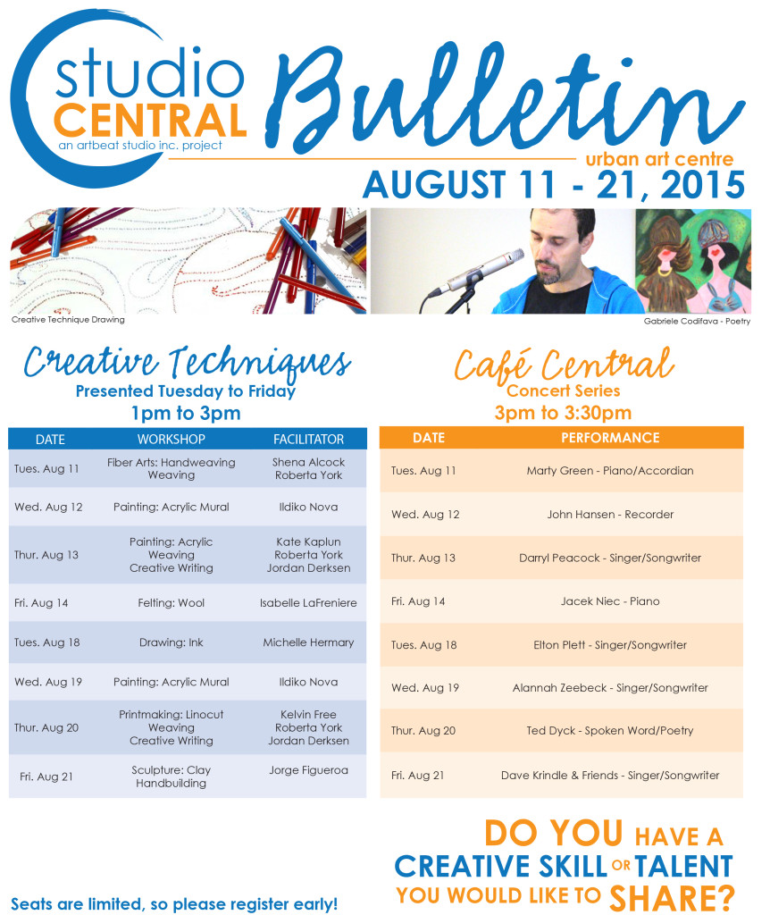 Studio Central Bulletin_Aug 11-21, 2015