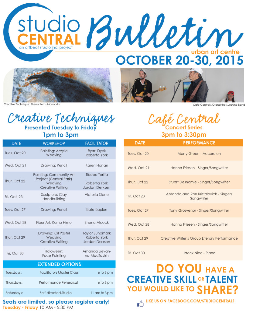 Studio Central BulletinOct20-30, 2015
