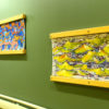 """Transitional Landscapes"" provides color and calm for those walking through."