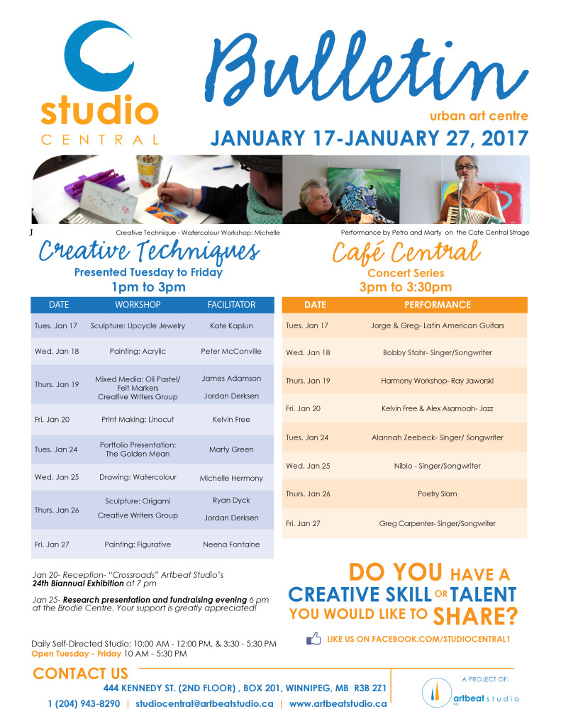 Studio Central Nov 22 - Dec 2, 2016 small