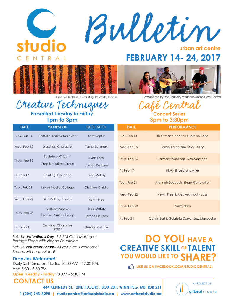 Studio Central Feb 14 - 24, 2017 small
