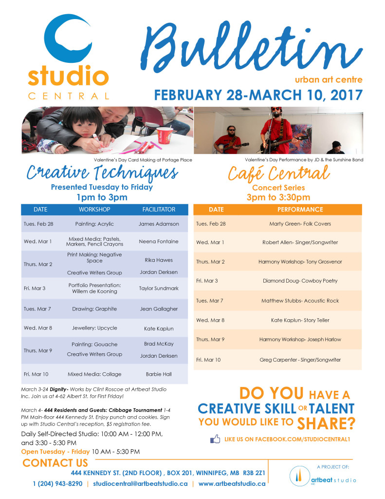Studio Central Feb 28 - Mar 10, 2017 small