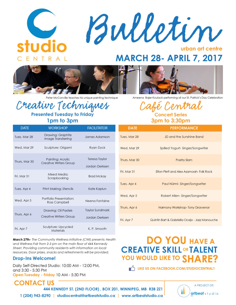 Studio Central- Mar 28-Apr 7, 2017 small