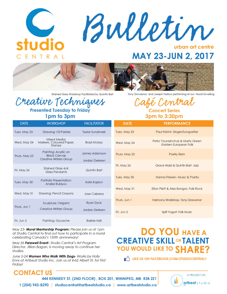 Studio Central- May 23-Jun 2, 2017 small