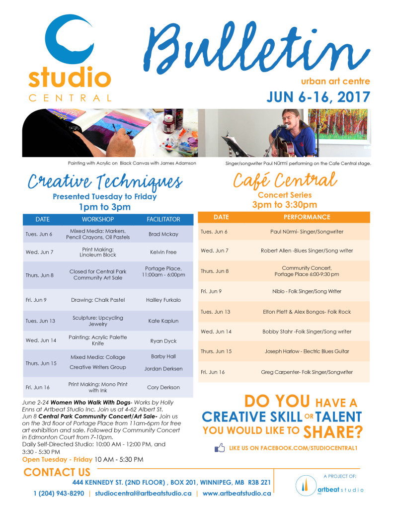 Studio Central -Jun 6-16, 2017 small