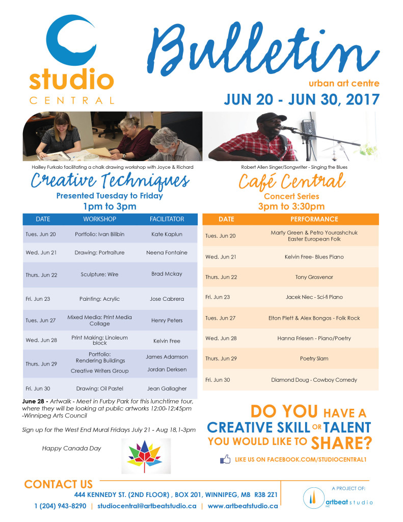 Studio Central- June 20-30, 2017 small