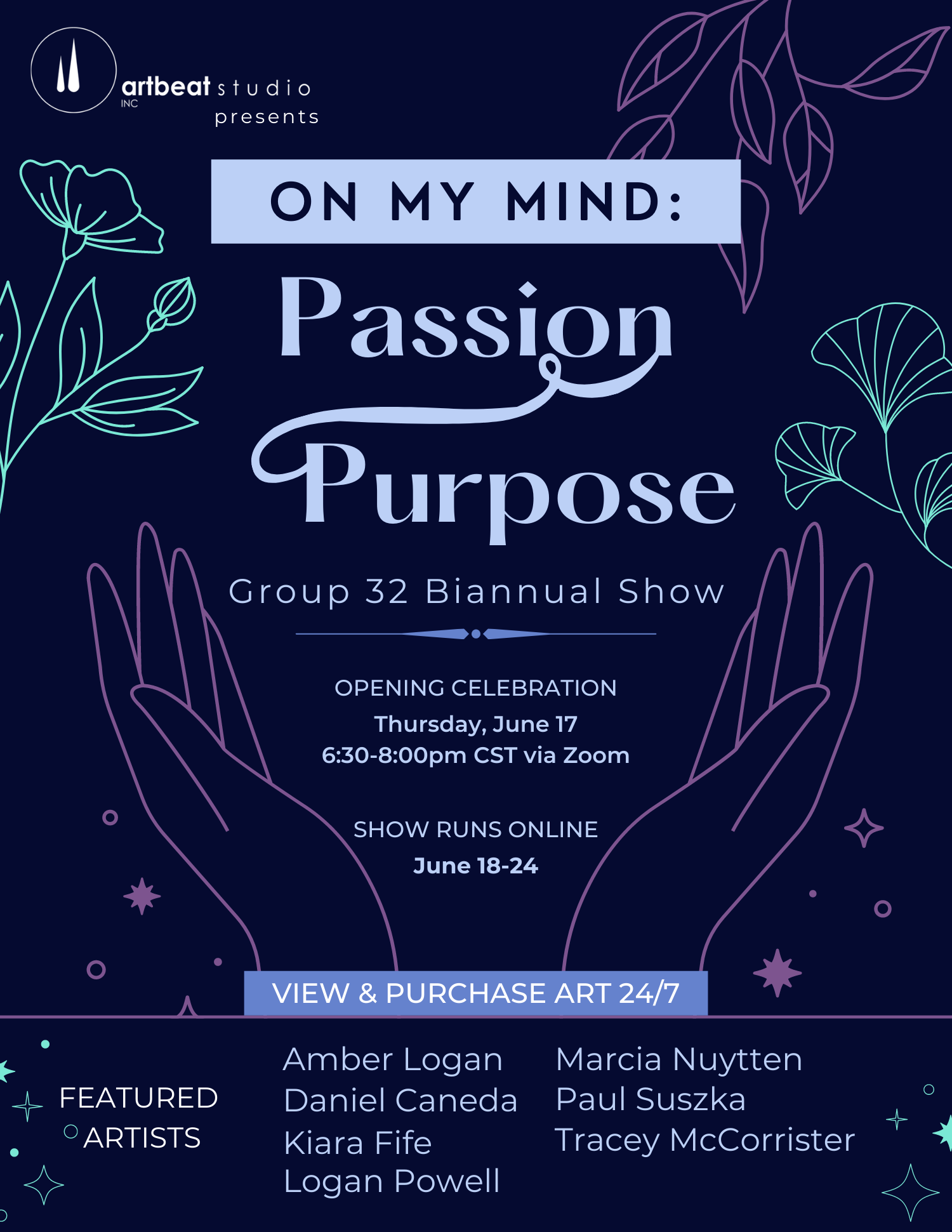 On My Mind: Passion=Purpose event poster