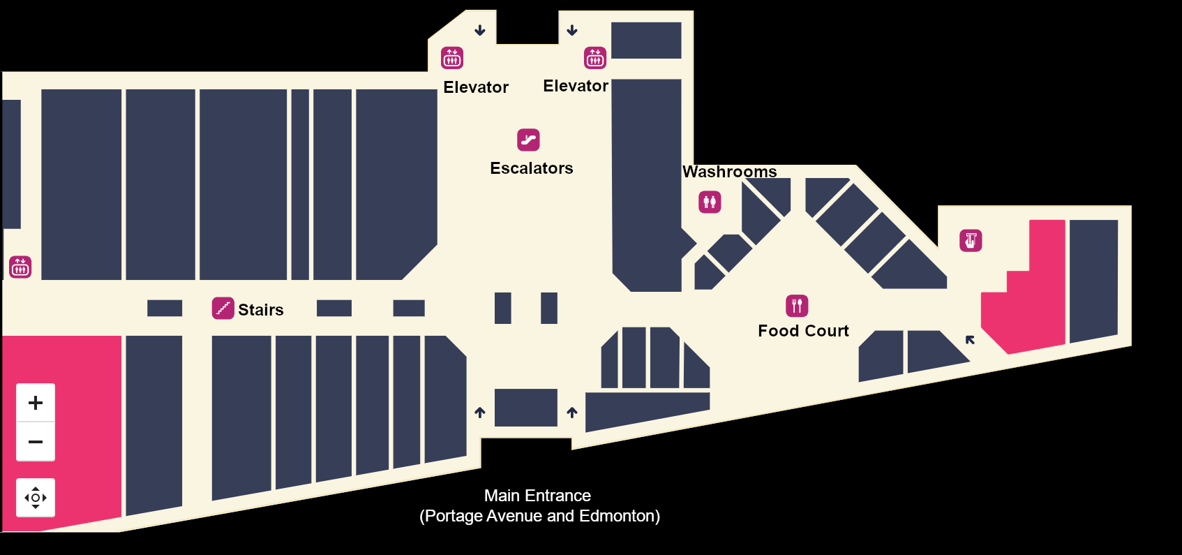 Map of first floor of PPSC