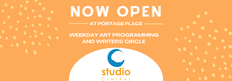 banner announcing studio central is open